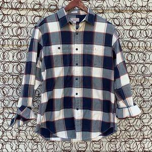 Wallace & Barnes J Crew plaid flannel shirt